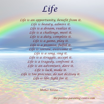 Poem about Life - The Positive Parenting Cente