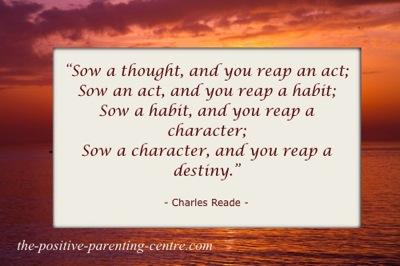 Reap A Habit of Kindness - The Positive Parenting Centre